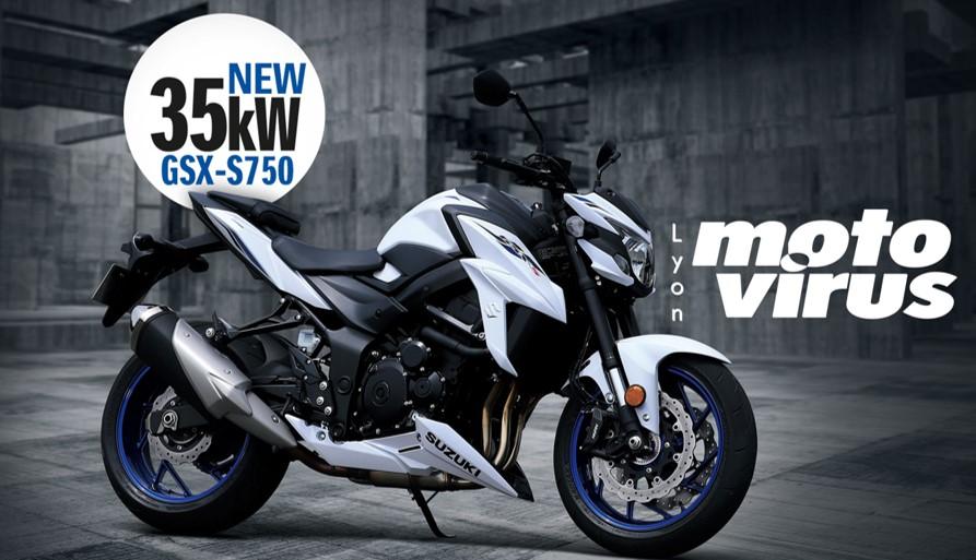 GSXS 750 A2  essai moto 35kw MOTO a2  - MTT1 MTT2