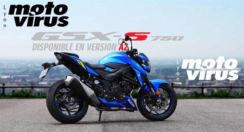 Permis A2 essai moto // Lyon A2 essai // GSXS 750 SUZUKI A2