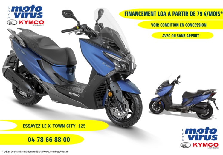 LOA SCOOTER KYMCO - 125 X-TOWN CITY 3799 €