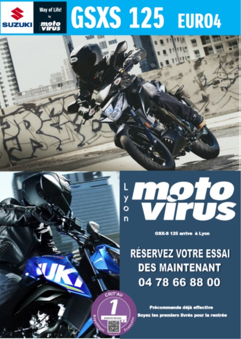 moto 125 essai suzuki GSXS 125  lyon moto nouveaute 2018