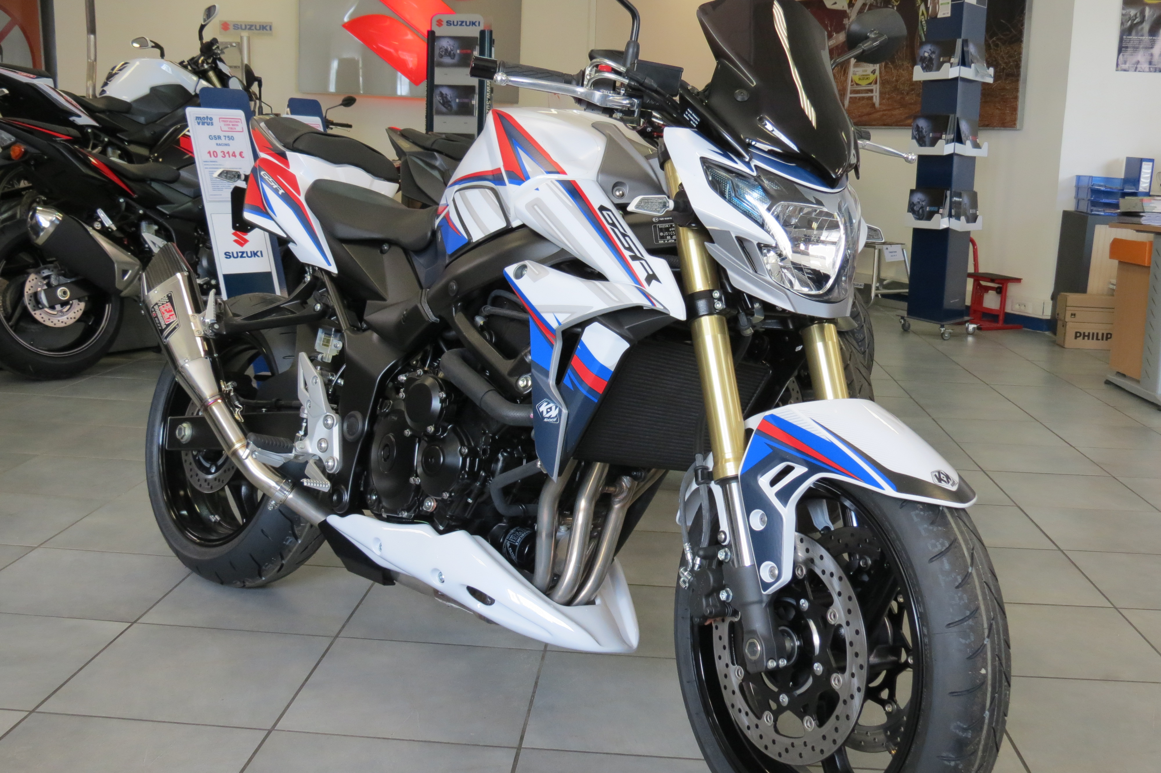 GSR 750 KUTVECK WHITE