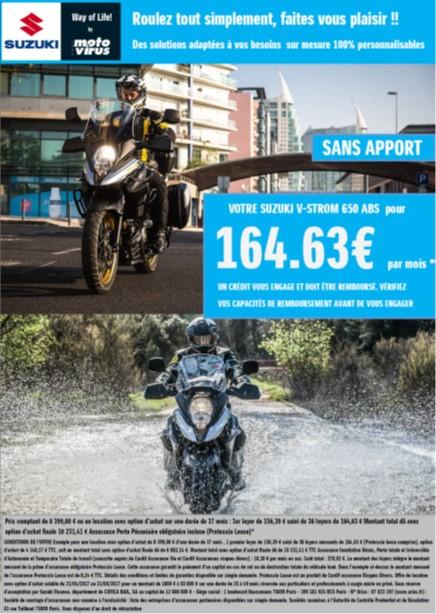 SUZUKI VSTROM 650 - LOA Financement moto - 37 mois - location