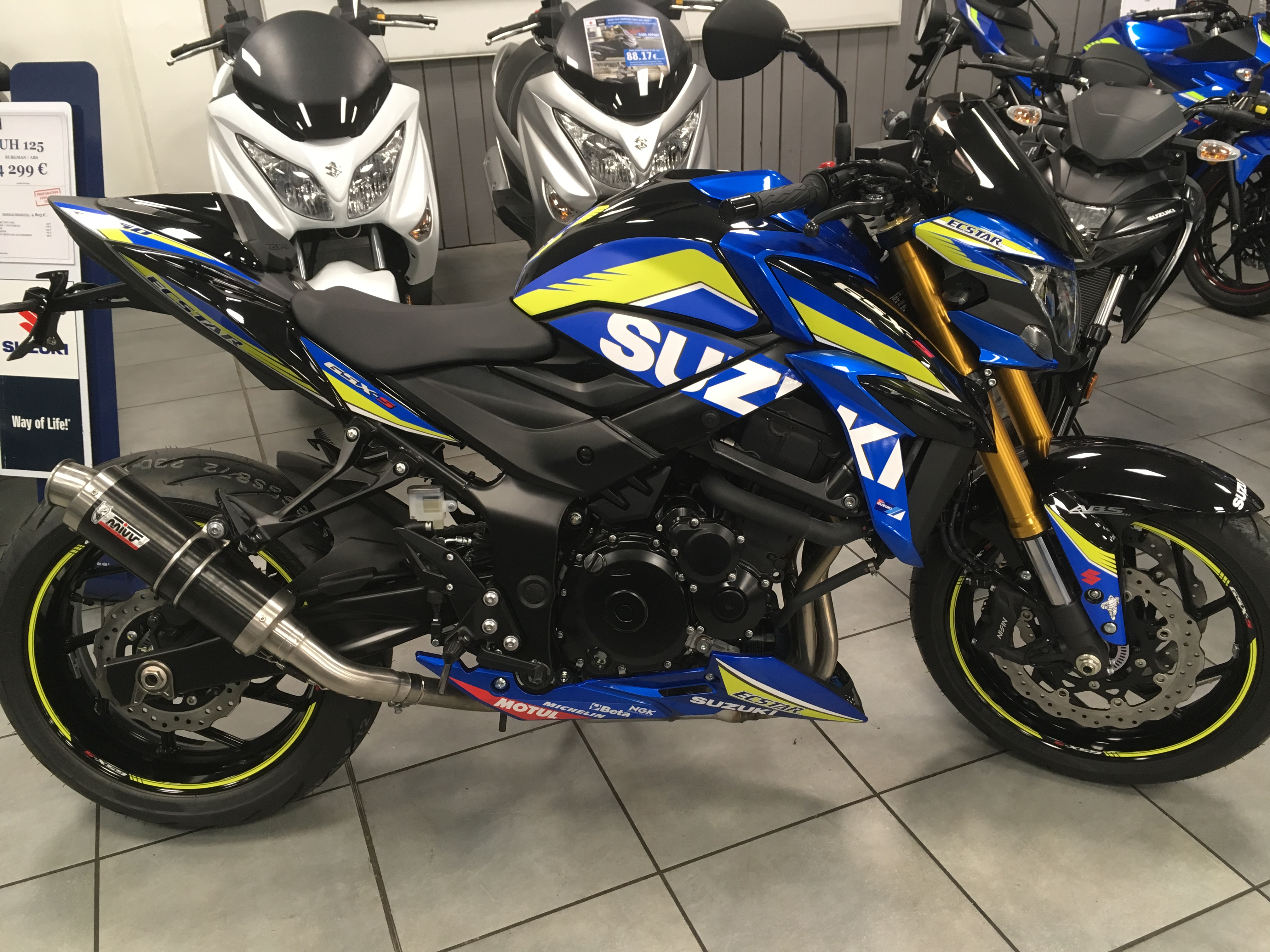 GSXS 750 2018  accessoires moto suzuki  kit deco