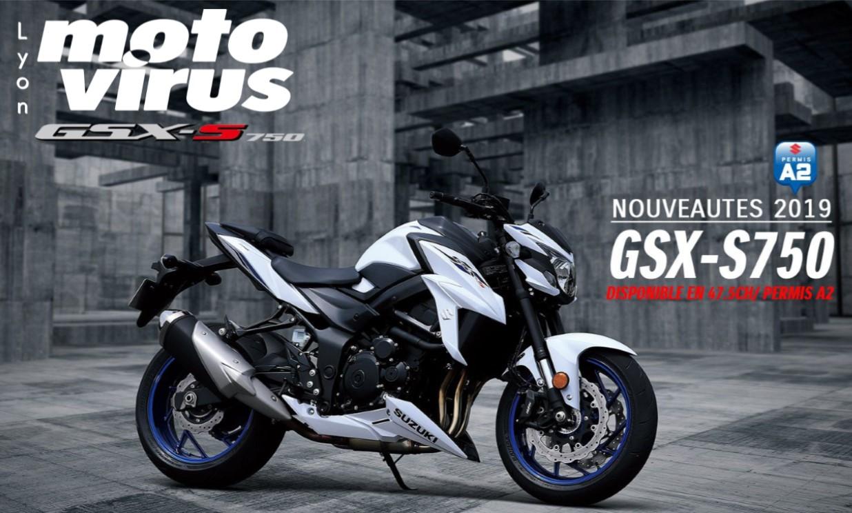 GSXS 750 A2 - 35 KW ESSAI MOTO A2 SUZUKI GSXS 750 LYON